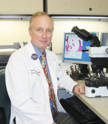 Conrad Schuerch, MD, Chairman of Laboratory Medicine and Leader of the Geisinger Medical Laboratories Thoracic Pathology Subspecialty Group